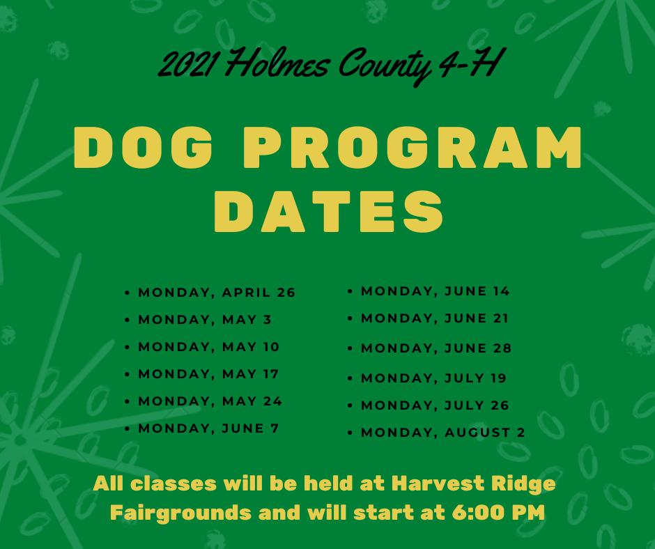 Dog Program Dates