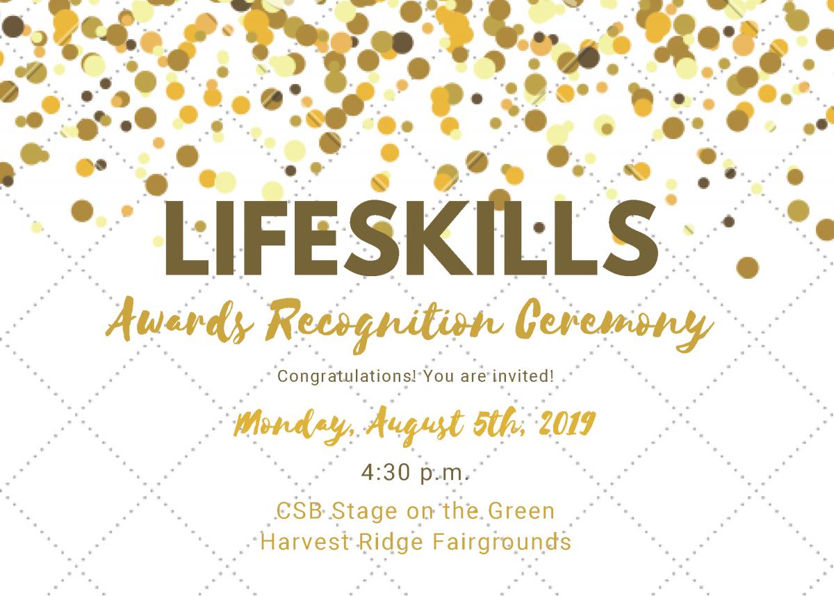 2019 Lifeskills Awards Invitation