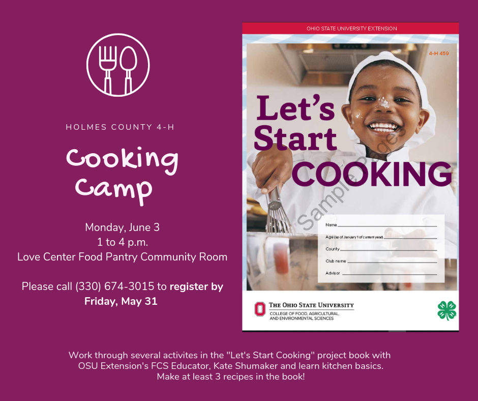 Holmes County Cooking Camp 2019