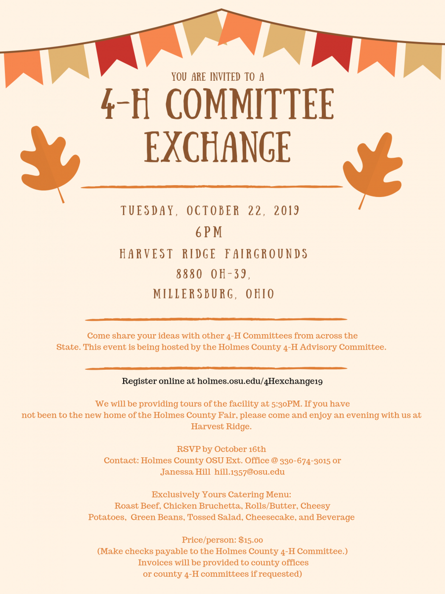 2019 4-H Committee Exchange Invitation