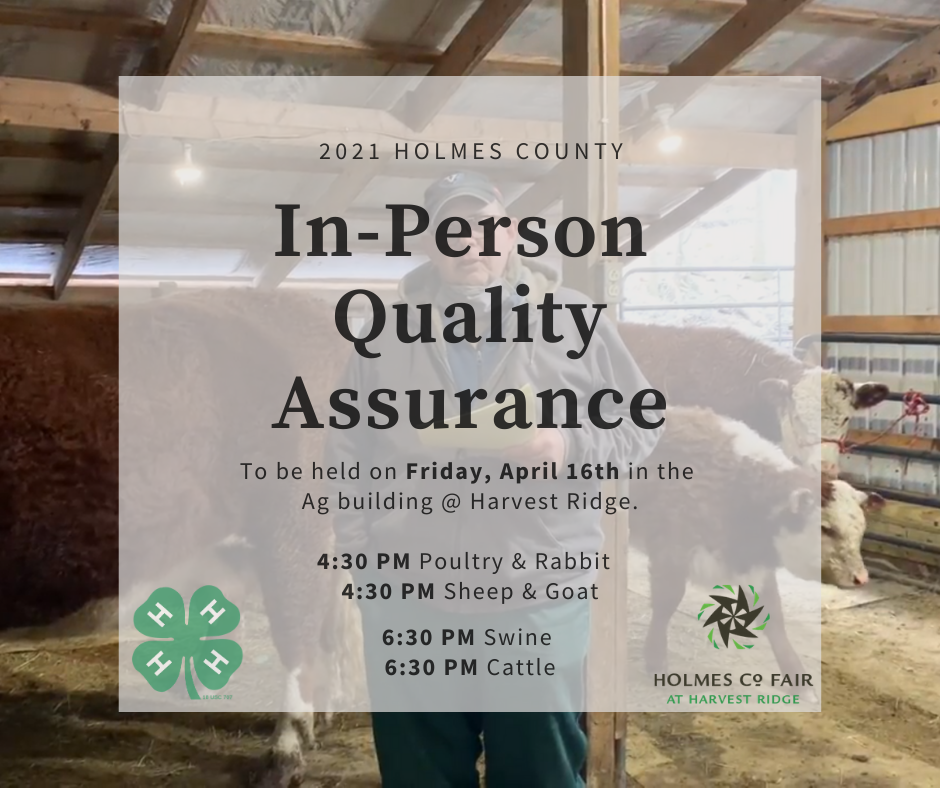 2021 In-person Quality Assurance