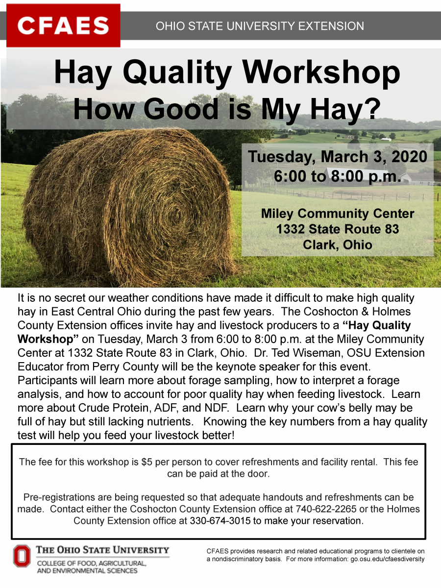 Hay Quality Workshop 2020