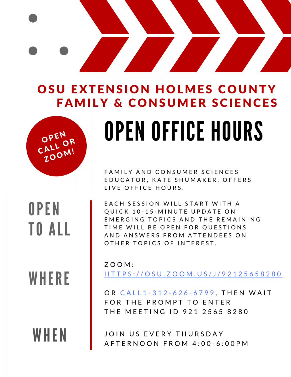 Holmes Co. Open Office Hours Flyer