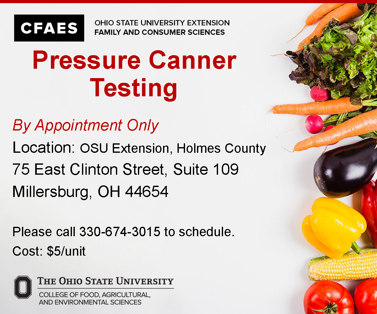 2020 Pressure Canner Testing Holmes County