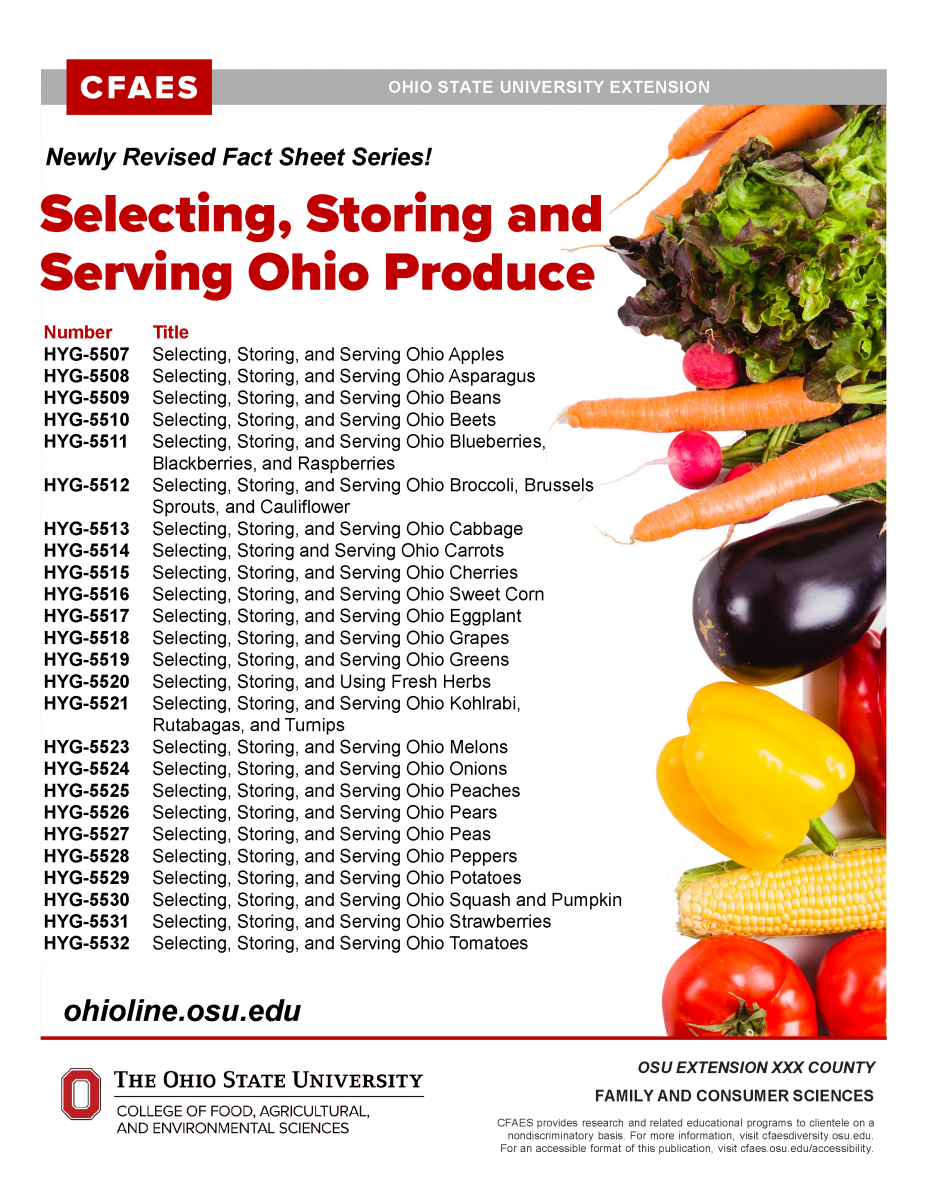Selecting, Storing, and Serving Ohio Produce