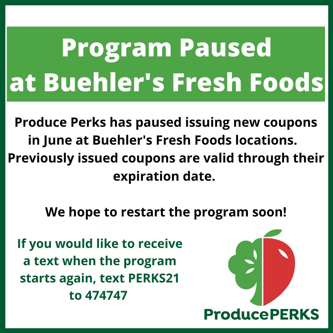 Produce Perks Puased June 2021
